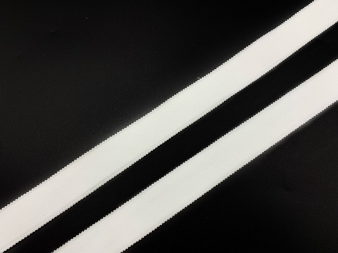 Резинка бретелечная белая 25 мм  (цв. 001)