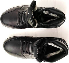 Мужские зимнии ботинки кроссовки натуральная кожа Nike Air Jordan 1 Retro High Winter BV3802-945 All Black