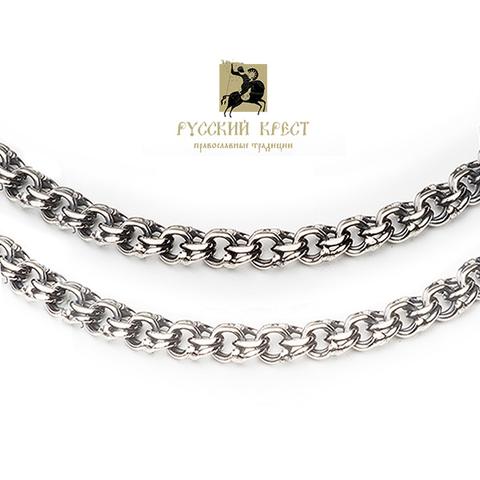 Цепочка серебряная женская на шею Бисмарк
