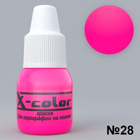 Краска для аэрографии - №28 Розовый НЕОН 5мл