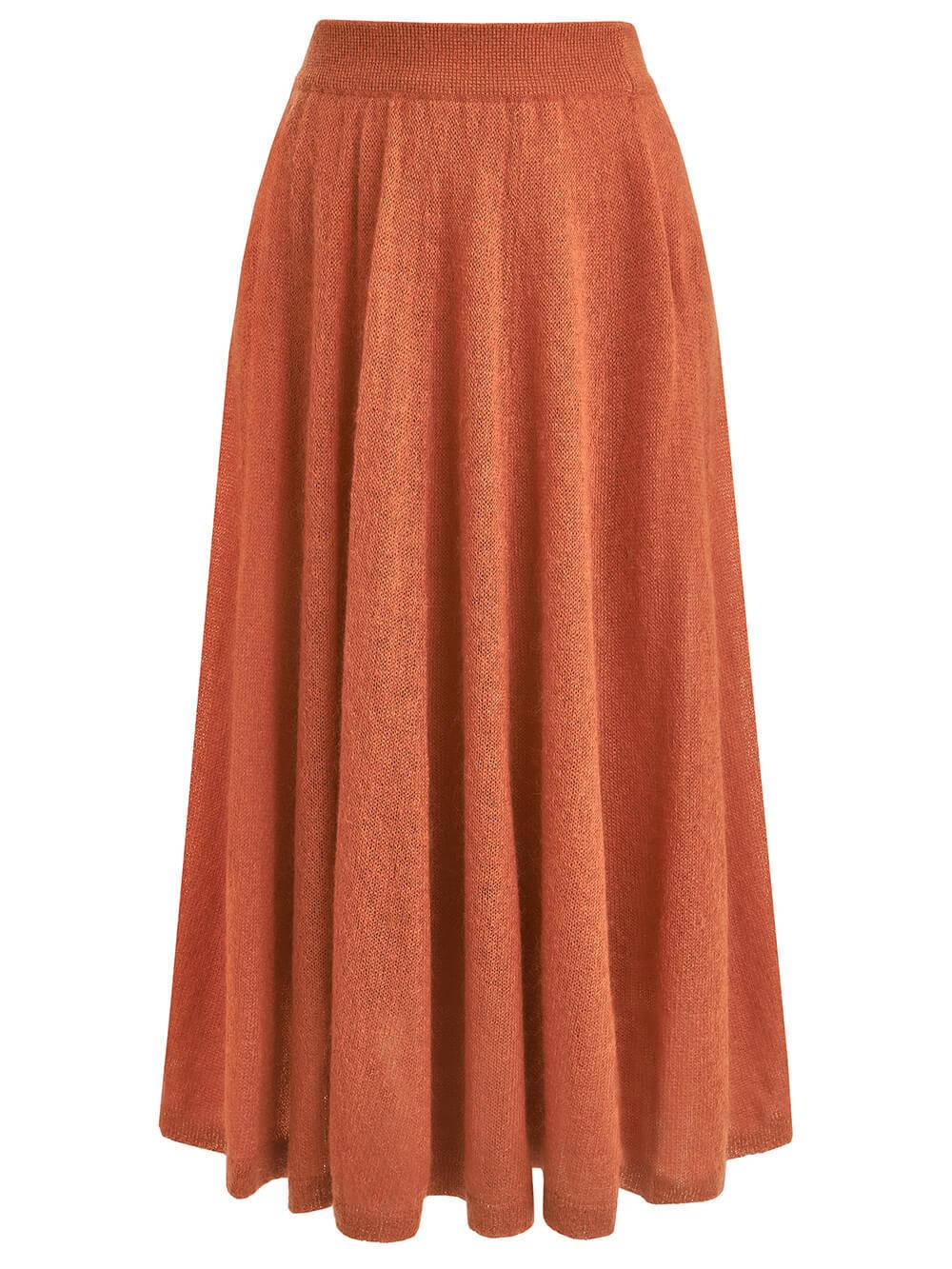 Женская юбка светло-терракотового цвета - фото 1