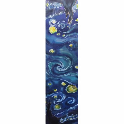 Шелковый шарф батик Звездная ночь Ван Гог С-57