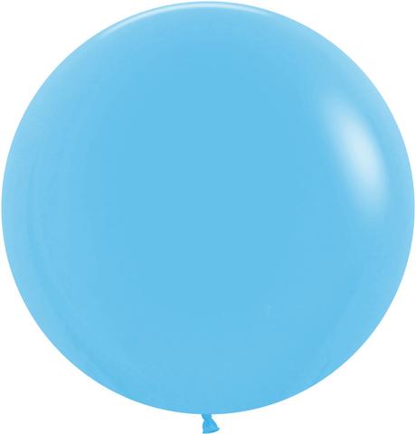 №10 Голубой Гелиевый шар пастель 60см с обработкой