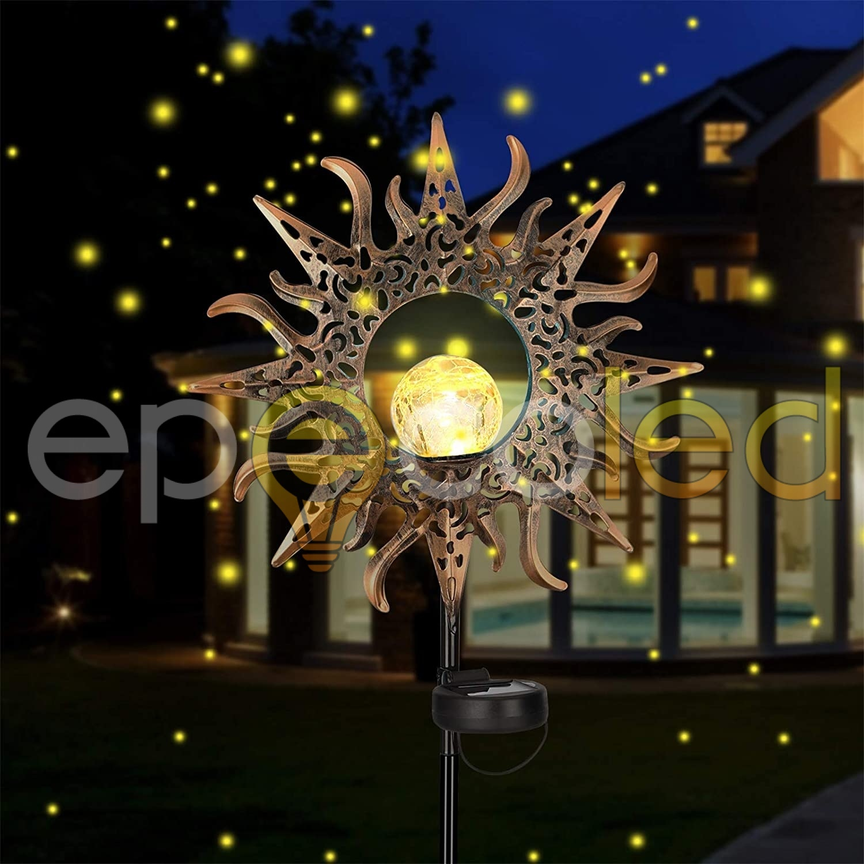 Винтажный светильник-солнце EPECOLED (на солнечной батарее)