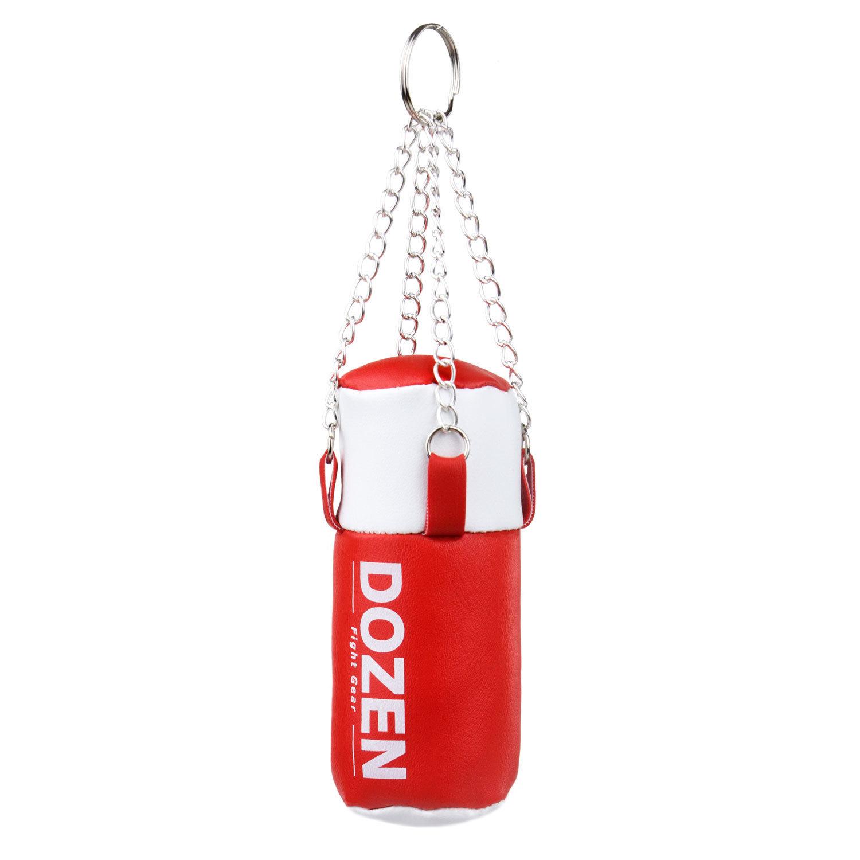 Брелок мини-мешок Dozen Light красно-белый главный вид