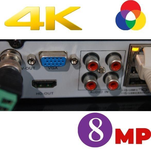8 Мп видеорегистратор наблдения гибрид  AHD CVI TVI IP CVBS описание купить