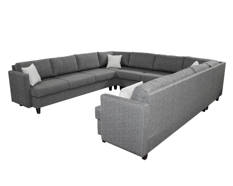 П-образный угловой диван Япошка с подлокотниками и дополнительными полушками