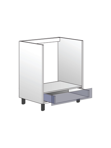 Напольный шкаф для духовки,  720Х600 мм / PushToOpen