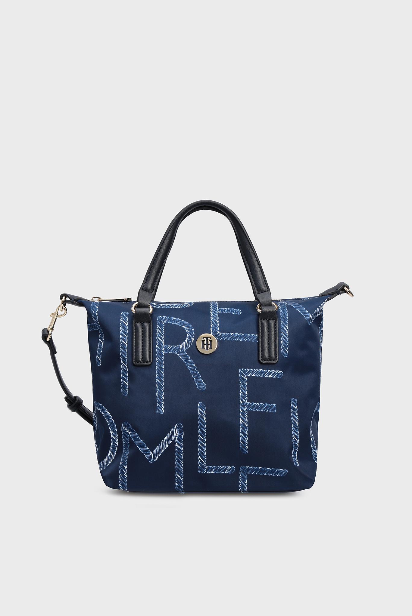 Женская синяя сумка через плечо POPPY SMALL TOTE ROPE Tommy Hilfiger