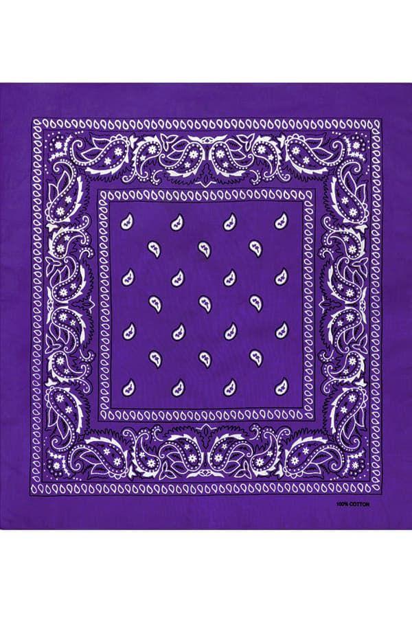 Фиолетовая бандана фото
