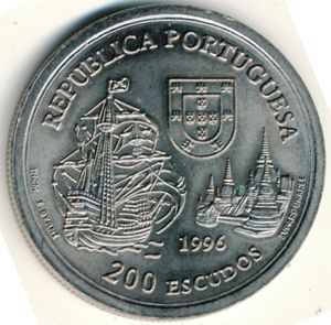 200 эскудо 1996 года