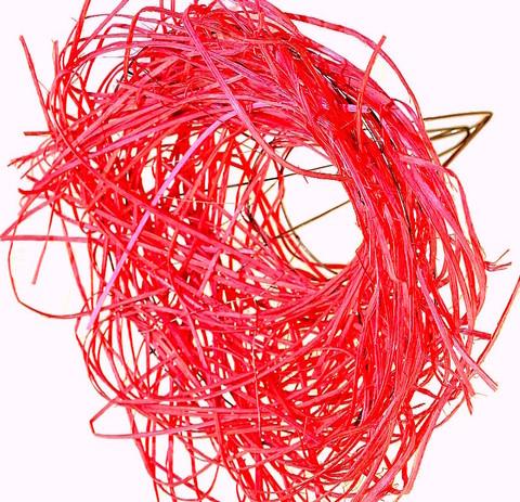 Каркас из ротанга (диаметр: 15 см) Цвет:красный