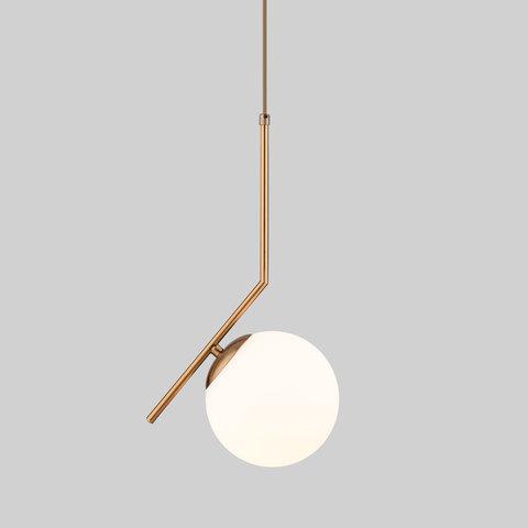Подвесной светильник со стеклянным плафоном 50152/1 латунь
