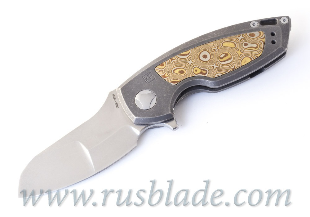 CKF PeaceDuke MOKUME CUSTOM ONE-OFF (M390, Ti) - фотография