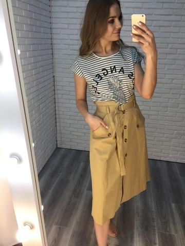 бежевая юбка с пуговицами купить