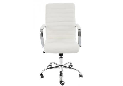 Офисное кресло для персонала и руководителя Компьютерное Tongo белое 62*62*93 Хромированный металл /Белый