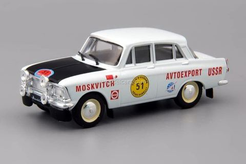 Moskvich-412 rally Europe Tour 1971 1:43 DeAgostini Auto Legends USSR Sport #5