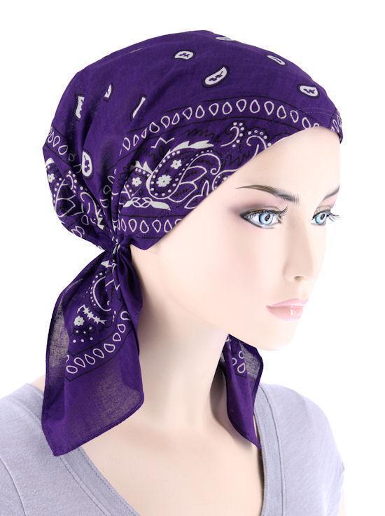 Фиолетовая бандана женская фото