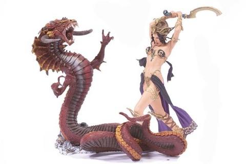 Конан фигурки серия 01 битва Белит с огненным драконом