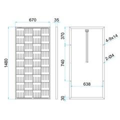 Размеры солнечной панели DELTA SM 150-12P