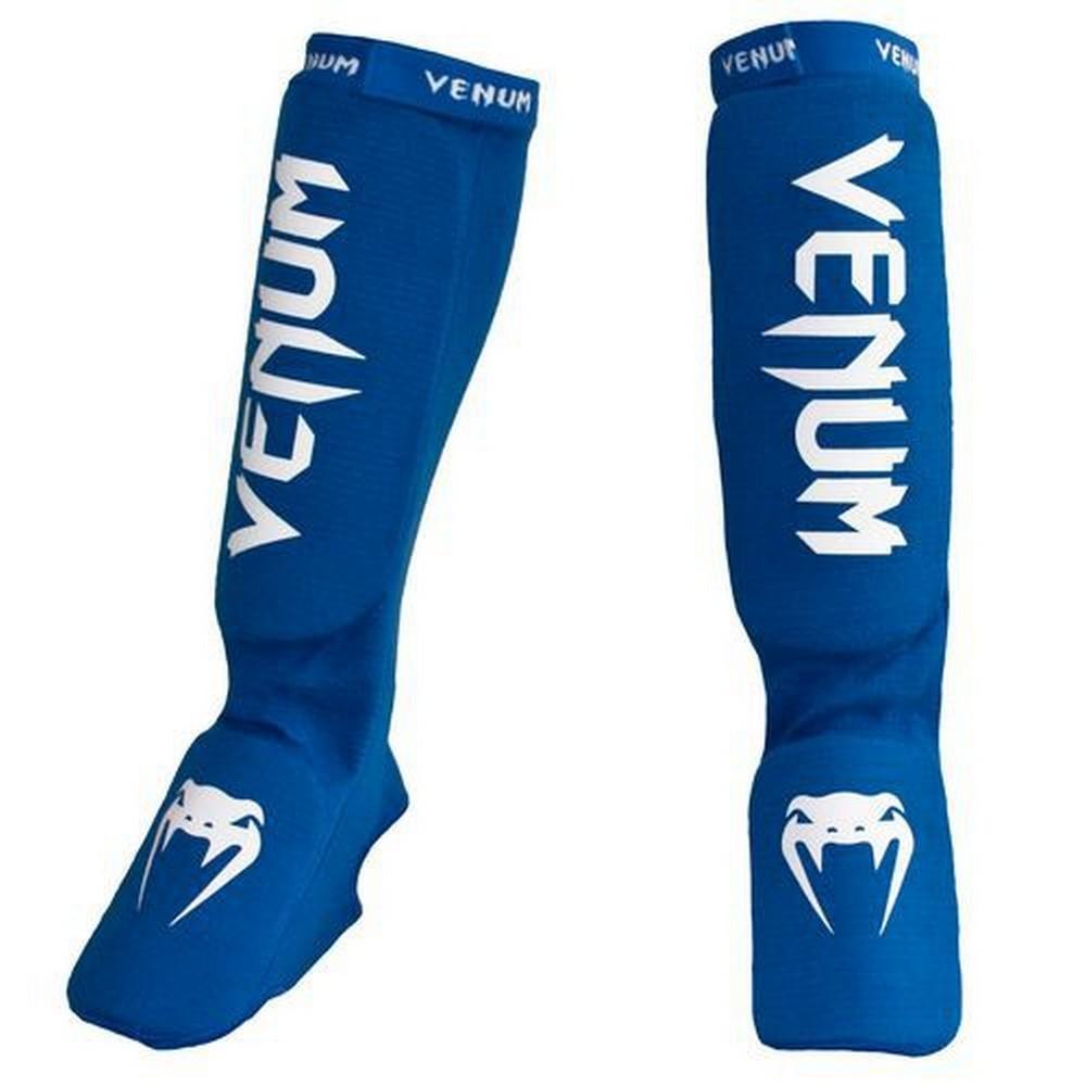 Защита ног Щитки Venum Kontact Shinguards and insteps Cotton Blue 1.jpg