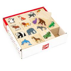 Набор кубиков В зоопарке, 16 шт., Анданте