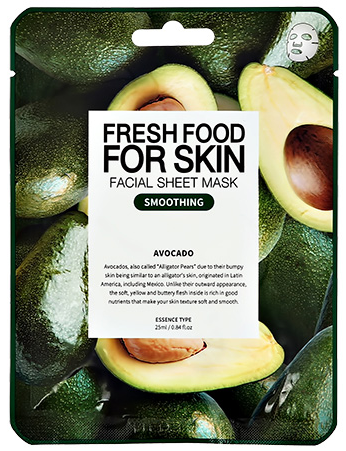 Fresh Food For Skin разглаживающая маска для лица с экстрактом авокадо