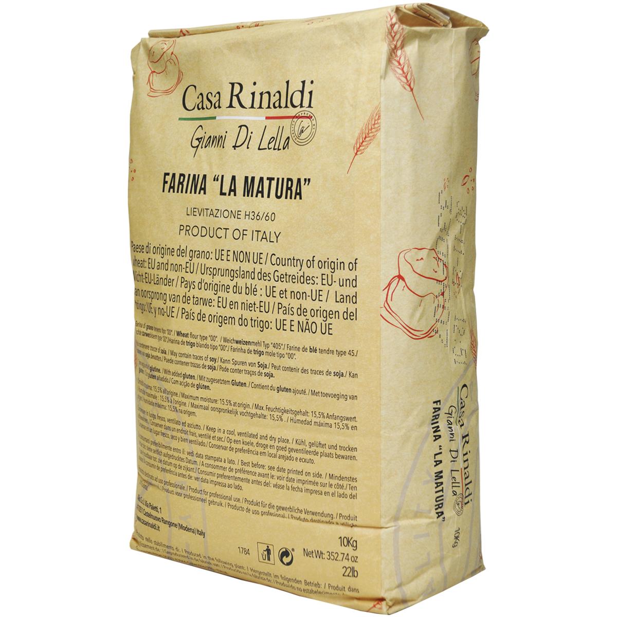 Мука Casa Rinaldi пшеничная из мягких сортов пшеницы типа 00 FARINA LA MATURA / H 36/60 10кг