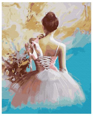 Картина раскраска по номерам 40x50 Балерина в красках (арт. WA5088)