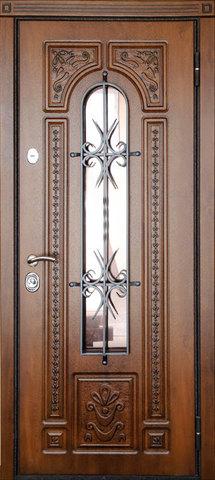 Дверь входная Стальная линия Лацио стальная, дуб золотистый, 2 замка