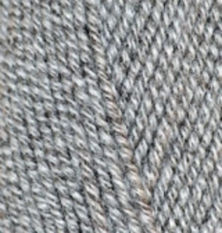 Пряжа Alize Lanagold 651 серо-белый меланж
