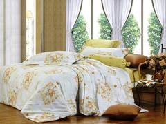Сатиновое постельное бельё  2 спальное  В-97