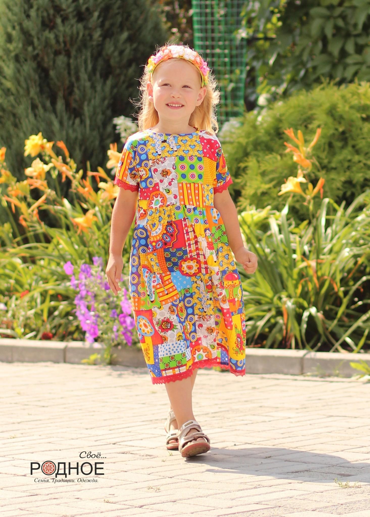 Платье Дымковская игрушка 02