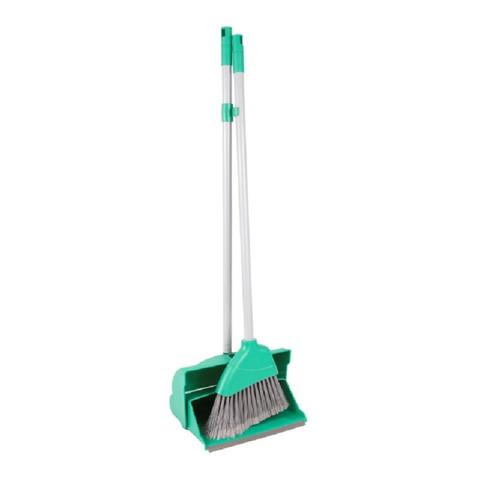 Комплект для уборки Hillbrush (щетка для пола и совок-ловушка) зеленый