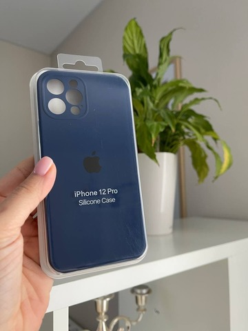 iPhone 12 (6.1) Silicone Case Full Camera /deep navy/
