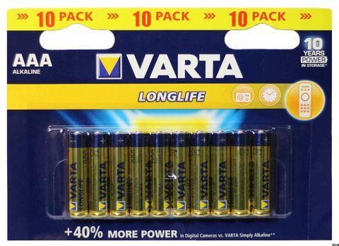 Батарейки Varta LongLife LR03, AAA (16/160) BL