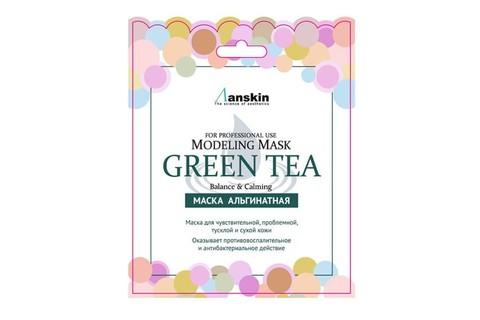 Anskin Original Маска альгинатная в саше с зеленым чаем Green Tea Modeling Mask, 25 гр