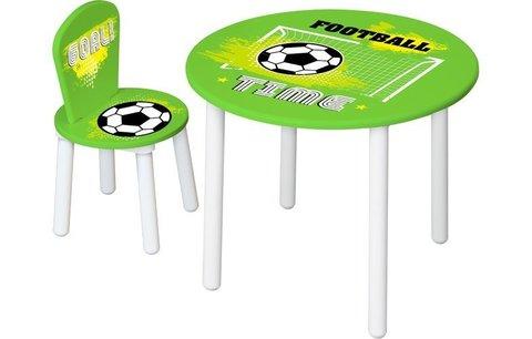Стул  для комплекта детской мебели Polini Kids Fun 185 S, Футбол, зеленый