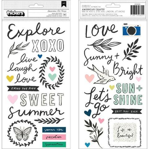 Стикеры объемные  15х30см -Maggie Holmes Sunny Days от Crate Paper