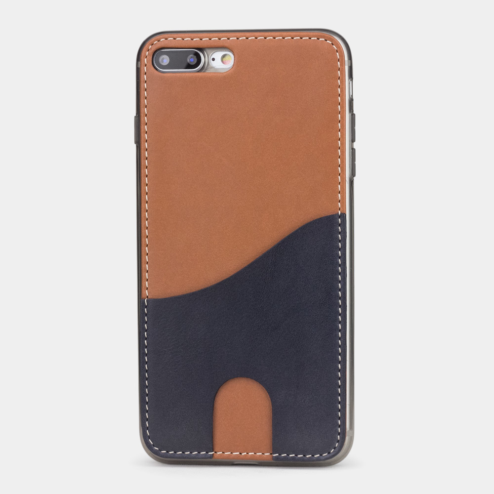 Чехол-накладка Andre для iPhone 7 Plus из натуральной кожи теленка, коричневого цвета