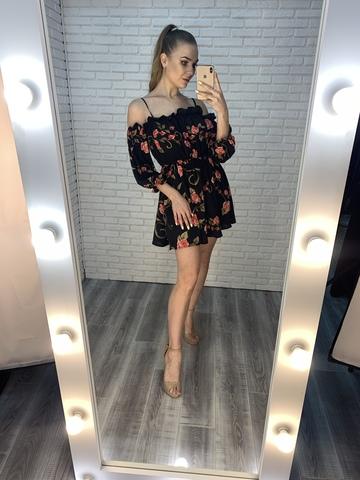 черное летнее платье купить