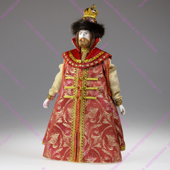 Сувенирная кукла Царь в шапке-короне