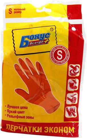 Перчатки хозяйственные Бонус S Эконом латекс