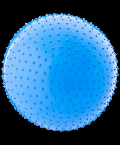 Мяч гимнастический массажный GB-301 55 см, антивзрыв, синий