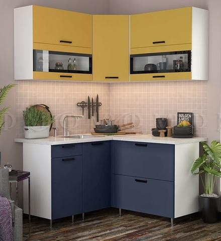 Кухня Угловая Техно NEW 1,4-1,4 м №5