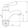 Смеситель для раковины  Migliore Hermitage ML.ERM-7013.BI схема