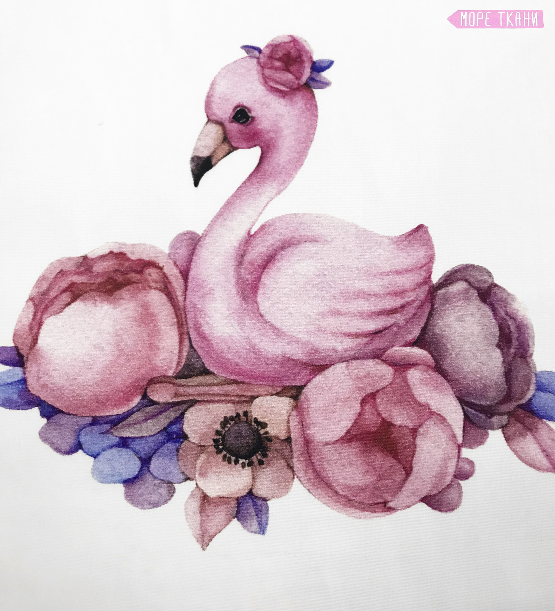 Панель(купон) мама,малыш-фламинго-35*35 см, 4 шт.