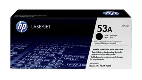 Оригинальный картридж Q7553A (№53A), чёрный