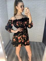 черное летнее платье nadya