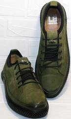 Полукеды. Мужские туфли нубук Luciano Bellini C2801 Nb Khaki.